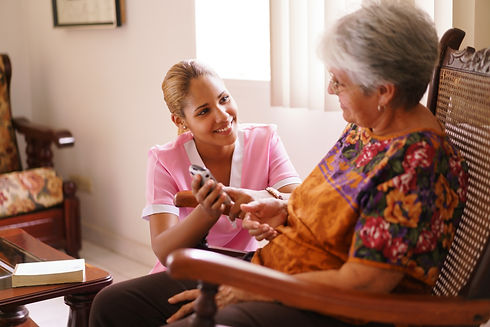 Old people in geriatric hospice: elderly