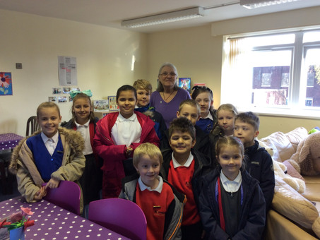 School Council visit to the Foodbank