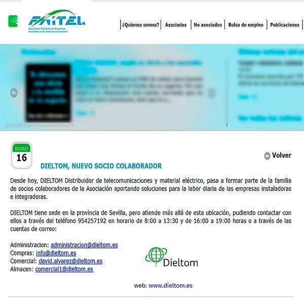 faitel, instaladora telecomunicaciones, asociación andaluza, colaborar, material electrico