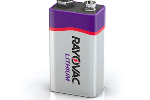 Rayovac Lithium R9VL-1 9V 1200mAh 9V Lithium (LiMNO2) Battery