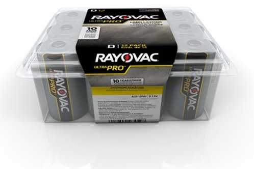 RAYOVAC UltraPro D Battery 12 Pack