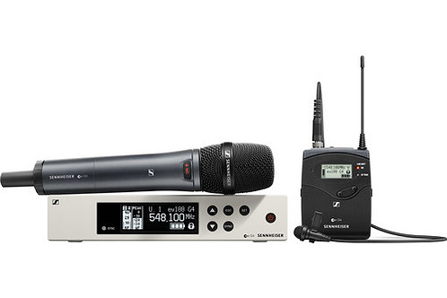 Sennheiser ew 100 G4 Combo ME2-II Lavalier and e835 Handheld Wireless Combo Kit