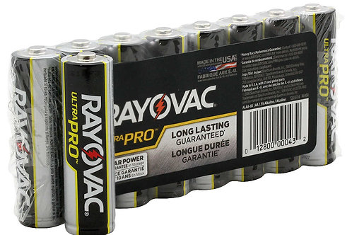 Rayovac Ultra Pro AL-AA 1.5V Alkaline Button Top Batteries - 8 Pack