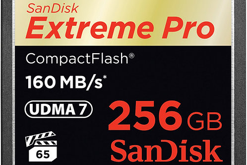 SanDisk 256GB Extreme Pro CompactFlash Memory Card (160MB/s)