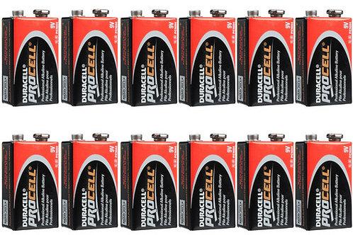 Duracell 9 Volt Procell Alkaline Batteries (12-Pack)