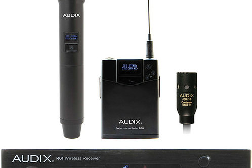 Audix AP61 OM2 L10 Single-Channel True Diversity Receiver with B60 Bodypack Tran