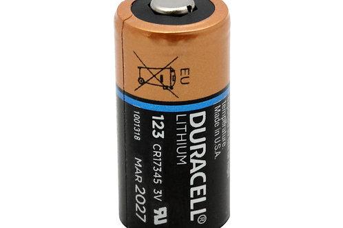 Duracell Ultra DL123A CR123A 1470mAh 3V Lithium (LiMNO2) Button Top Photo Batter