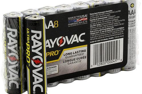 Rayovac Ultra Pro AL-AAA 1.5V Alkaline Button Top Batteries - 8 Pack