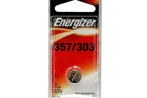 Energizer 357/303 148mAh 1.55V Silver Oxide Coin Cell Watch Battery - 1 Piece Bl