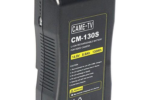 CAME-TV 130Wh Battery V-Mount for Video Cameras & Lights