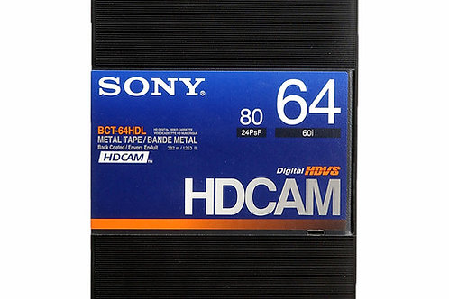 Sony BCT-64HDL HDCAM Videocassette, Large