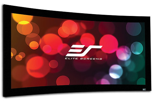 """Elite Screens CURVE135H-A1080P3 Lunette 66.2 x 117.7"""" Fixed Frame Projection Scr"""
