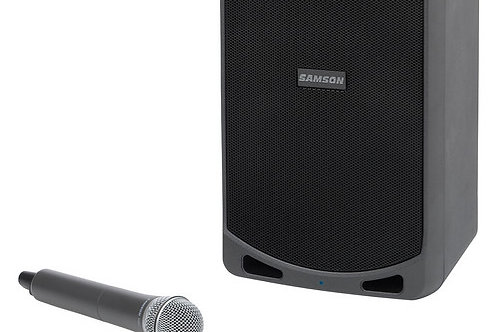 Samson Expedition XP106w Portable PA System with Wireless Handheld Mic System &