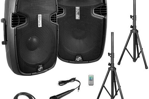 "Pyle Pro 12"" Active + Passive PA System Package Kit"