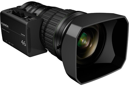"""Fujinon 46X Zoom 2/3"""" 4K Broadcast Lens"""