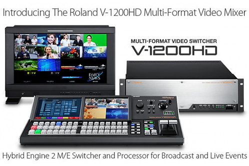 ROLAND V-1200 HD VIDEO MIXER BUNDLE WITH V-1200 HDR CONTROL SURFACE
