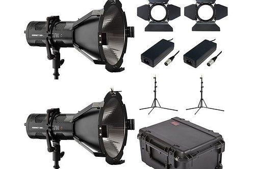 Hive Lighting Hornet 200-C Par Spot 2 Light Kit with 2 Stands and Case (Custom F