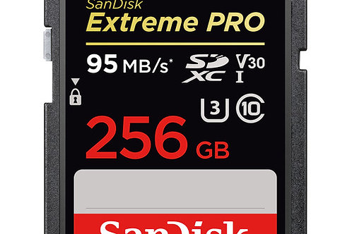 SanDisk 256GB Extreme PRO UHS-I SDXC Memory Card (V30)