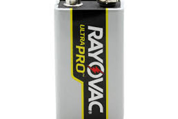Rayovac Ultra Pro AL-9V Alkaline Battery with Snap Connectors 2 Count