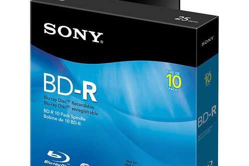 Sony 25 GB BD-R Discs 10-Pack (Spindle)