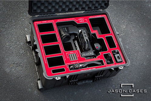 Jason Cases BMURMIRE Hard Travel Case for Blackmagic URSA Mini Kit (Red Overlay)