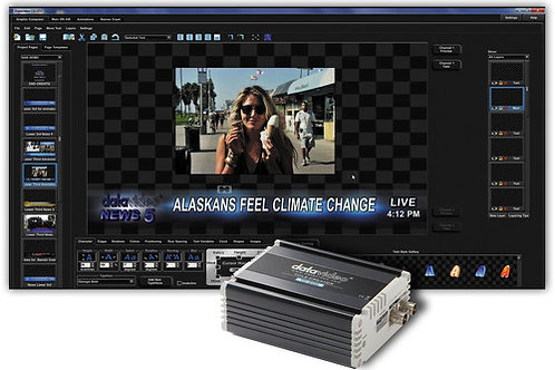 Datavideo CG-300TC Kit with CG-300 Character Generator Software and TC-200 Kit