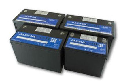 AlphaCell 220GXL silver alloy gel insert terminal, 12V 109Ah