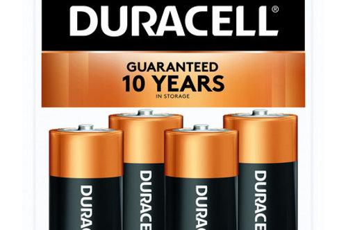 Duracell 1.5V Coppertop Alkaline C Batteries, 4 Pack