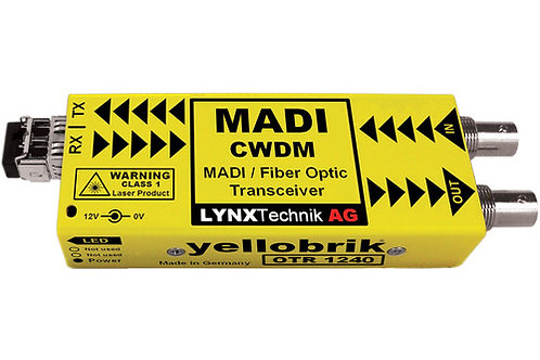 Lynx Technik AG MADI Optical to Coaxial Converter/Transceiver for CWDM Wavelengt