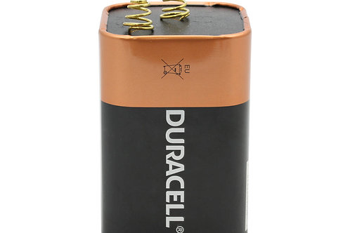 Duracell Coppertop MN908 6V Alkaline Lantern Battery with Spring Terminals