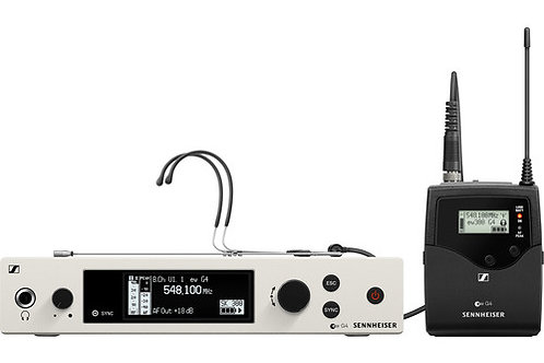 Sennheiser ew 300 G4-Headmic1-RC Wireless Bodypack Headmic Set AW+: (470 to 558