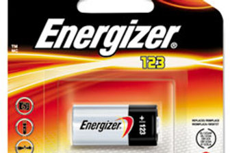 Energizer ELCR123A-BP 1500mAh 3V Lithium Primary (LiMNO2) Button Top Photo Batte