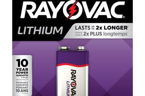 Rayovac Lithium 9-V Carded Battery