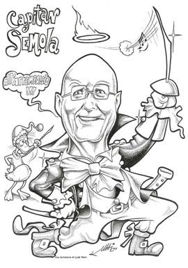 Caricatura di Luigi Maio il musicattore.