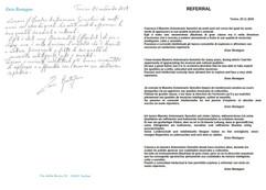 Lettera di referenze da Enzo Restagno