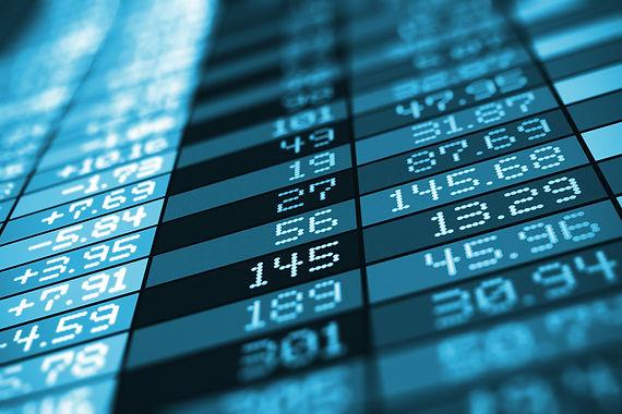 Wall Street board.