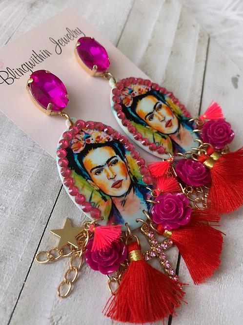 Viva la Frida Glam statement earrings