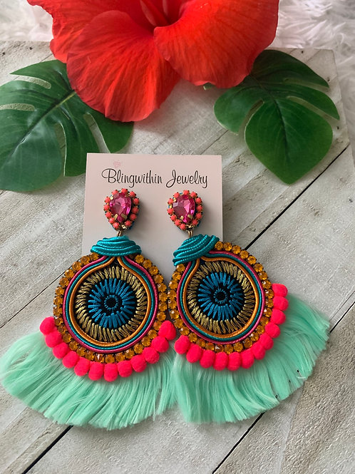 Bahamas Statement earrings