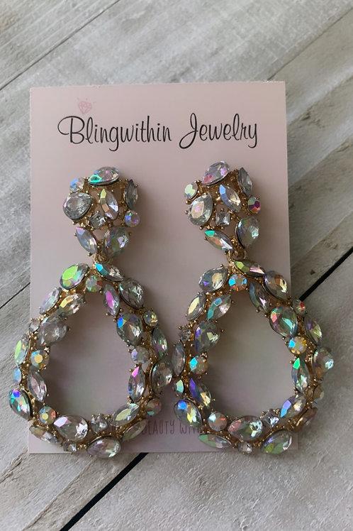 Beyonce Statement earrings in oval