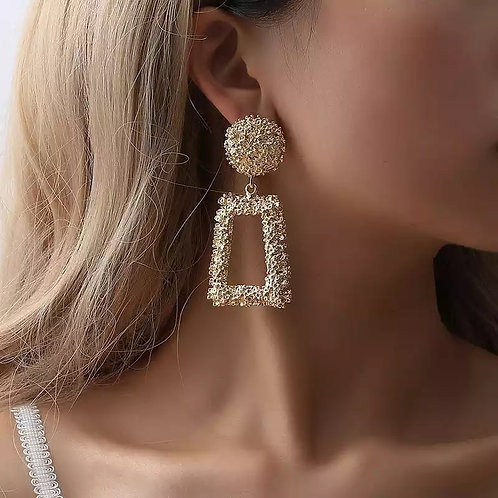 Take me out Gold Statement earrings
