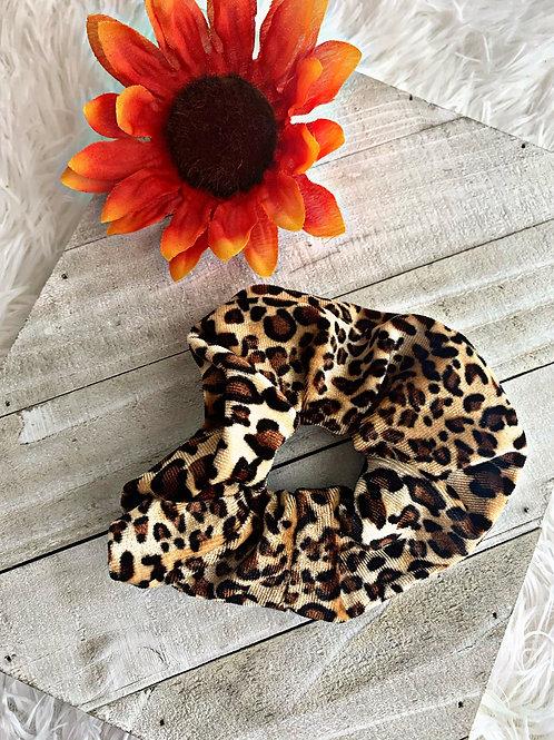 Leopard print scrunchie