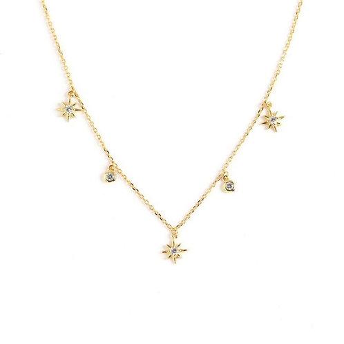Stars and diamonds necklace