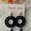 Thumbnail: Ruby Drop Dangle earrings in black