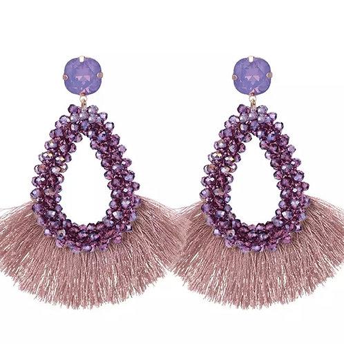 Katherine Drop earrings in Lavender