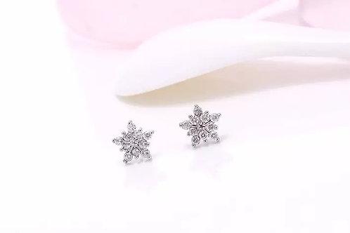 Ice star stud earrings