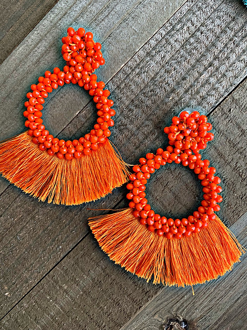 Bella Dangle tassels orange