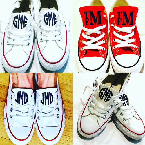 048d0db70cfca9 Infant Monogrammed Converse Sneakers