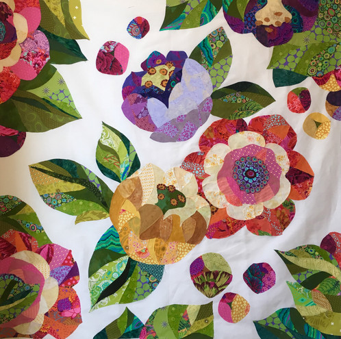 felicity means being happy and these flowers are sure to bring happiness into the world this beginner collage quilt pattern is the perfect introduction to