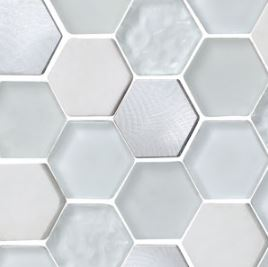 Pearl Metallic Hex Mosaic