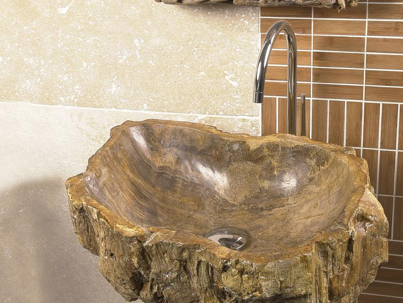 Petrified Wood Washbin